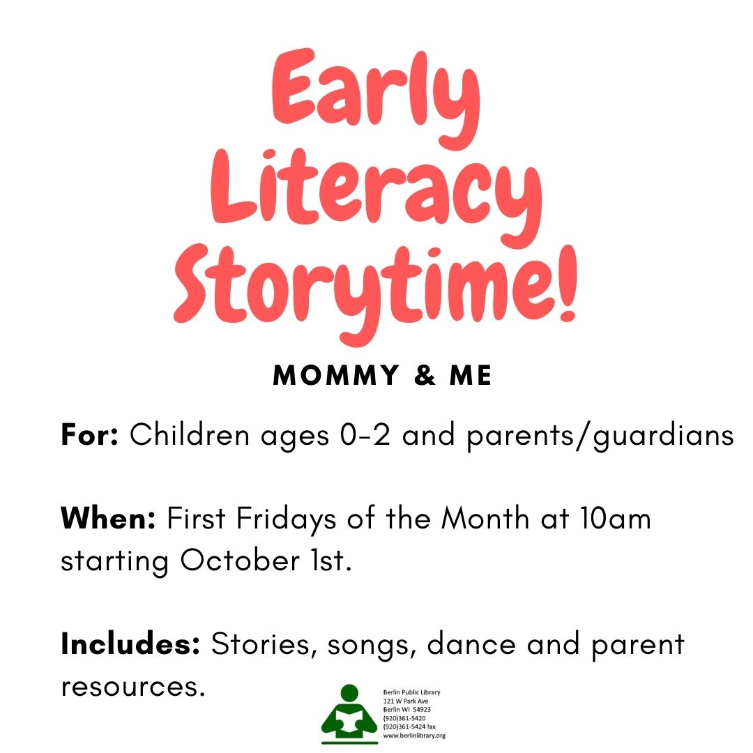 Early Literacy Story Time (Mommy & Me)