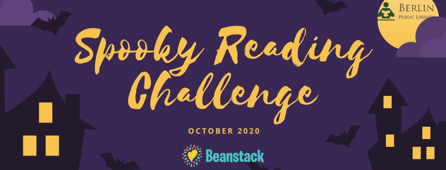 Spooky Reading Challenge. October 2020. Beanstack