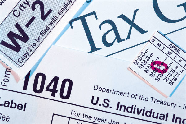 Tax Forms at library