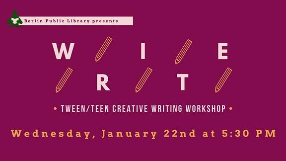 Tween/Teen Creative Writing Workshop